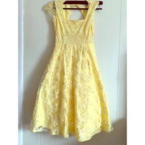 Yellow Floral wedding Dress